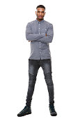 istock Young african american man standing with arms crossed 521107671