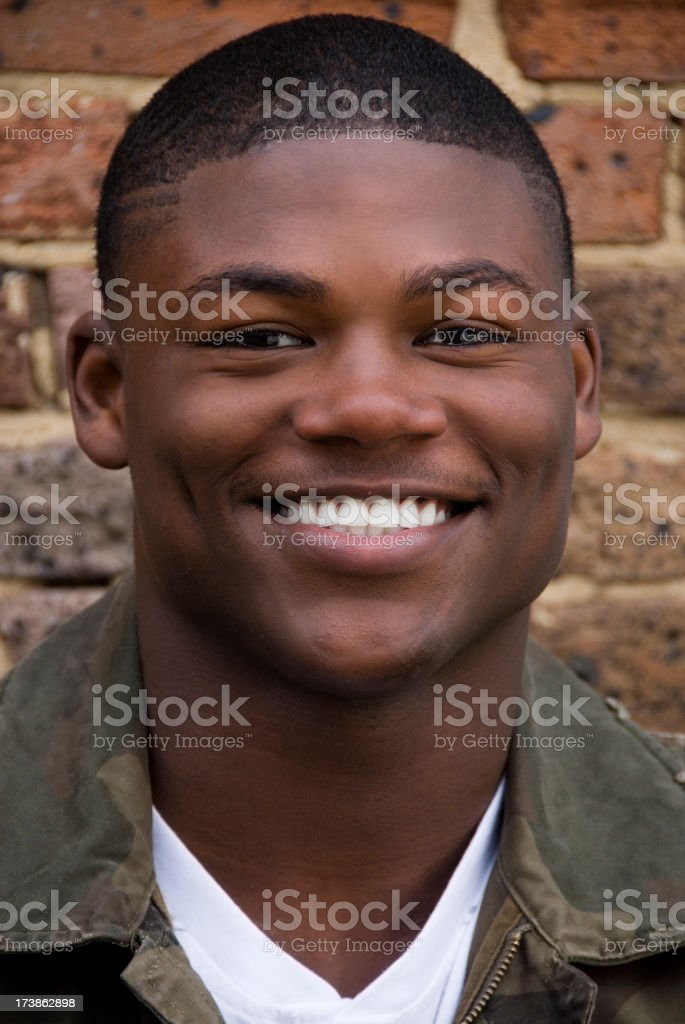 Young African American Teen Boy royalty-free stock photo