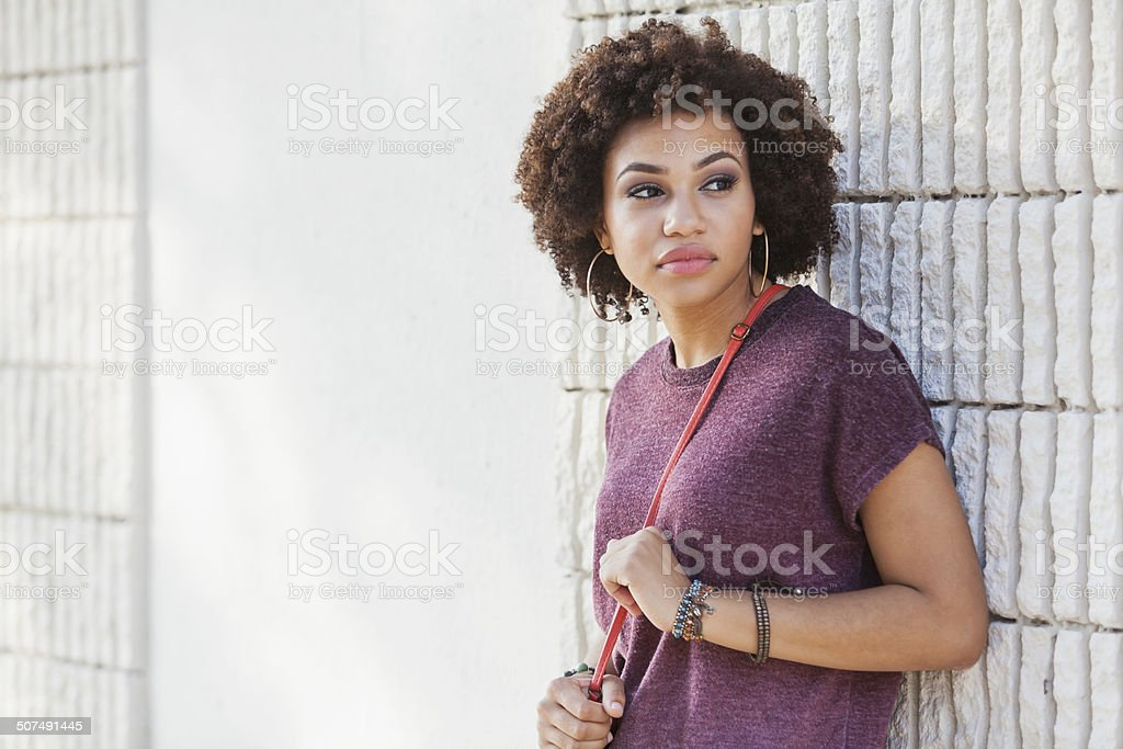 Young African American woman stock photo