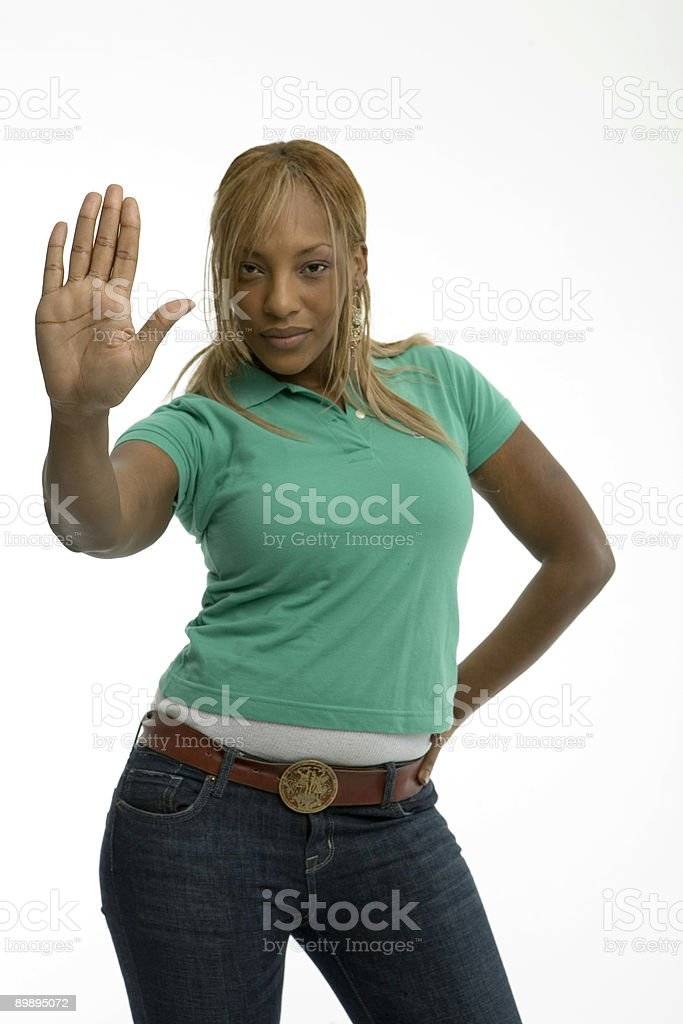 Young African American woman royalty-free stock photo
