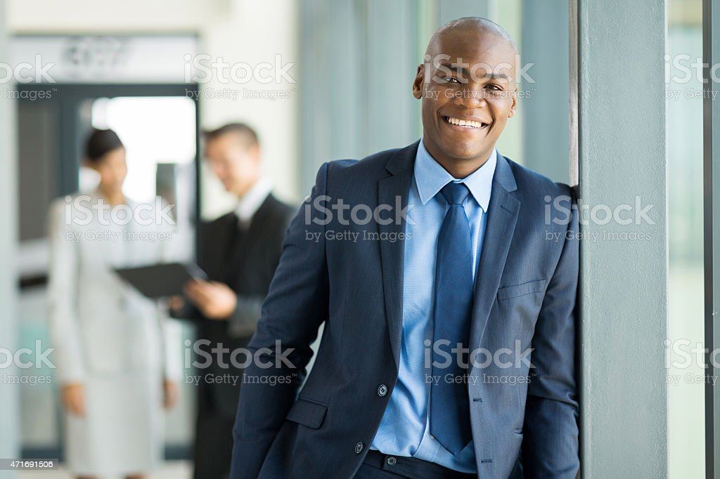 young african businessman portrait stock photo