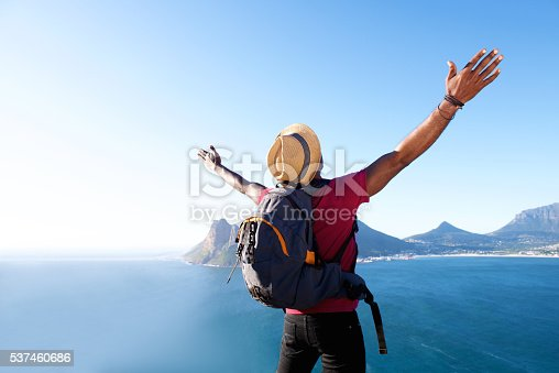 istock Young african guy on vacation 537460686