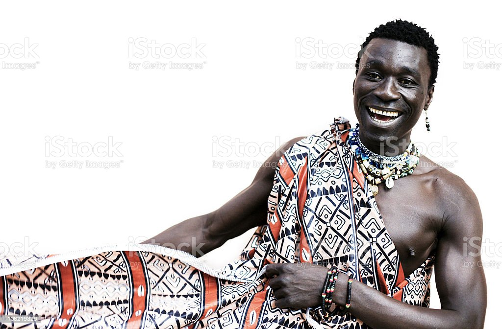 Young African Man in Traditional Dress royalty-free stock photo