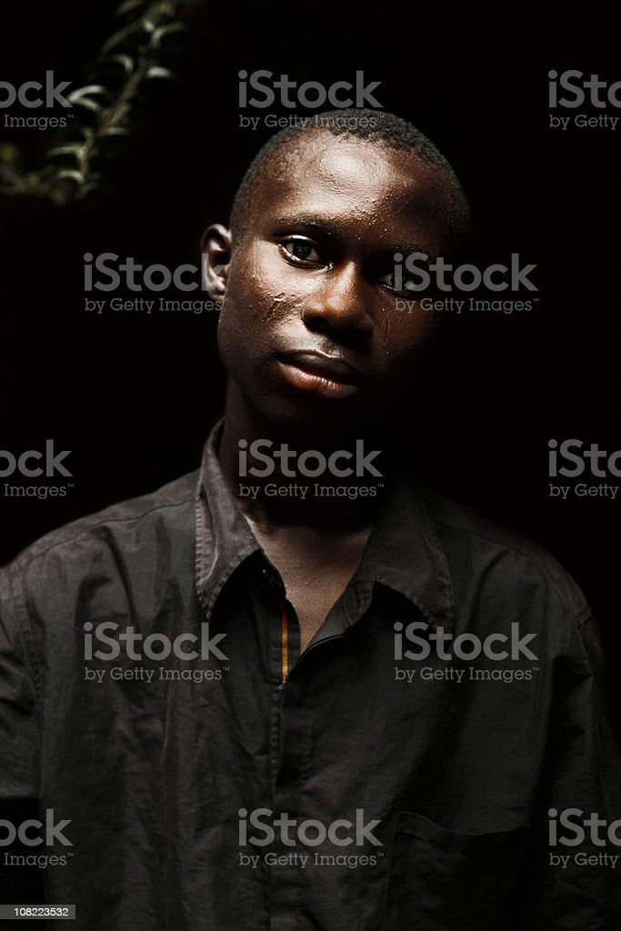 Young African man. stock photo