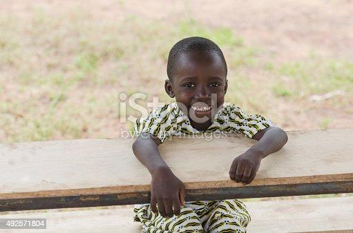 istock Young African Schoolboy at School (Back to School Symbol) 492571804
