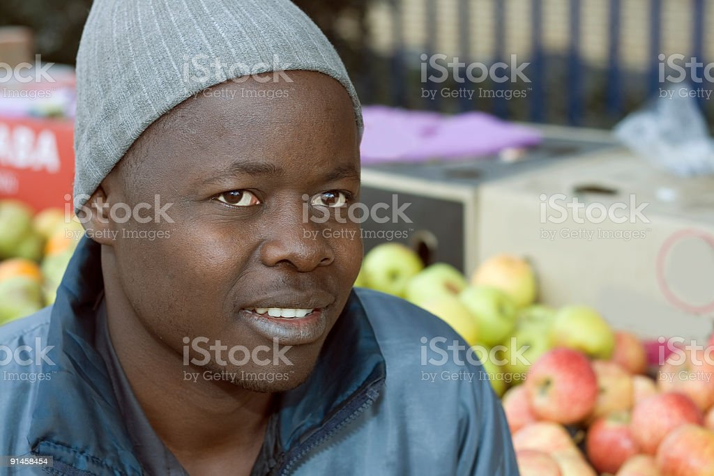 Young African Street Merchant royalty-free stock photo
