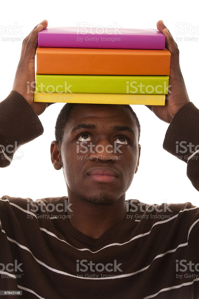 Young african student royalty-free stock photo