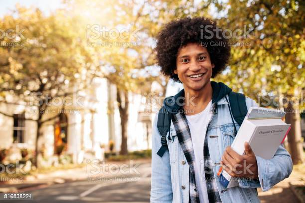 Young african student returning from college picture id816838224?b=1&k=6&m=816838224&s=612x612&h=kbmpowtwjyh89uqupmmjwwftynr5rwdthsmmcsgnriw=