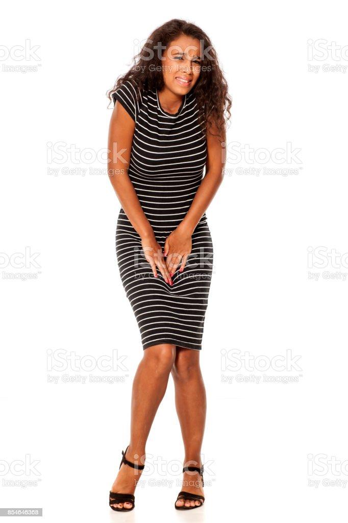 jeune femme africaine tenir sa croch - Photo