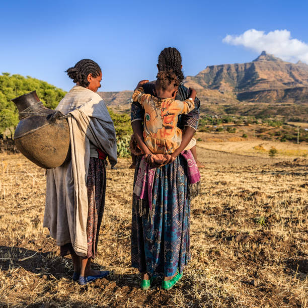 young african women looking at view, ethiopia, africa - horn of africa stock photos and pictures