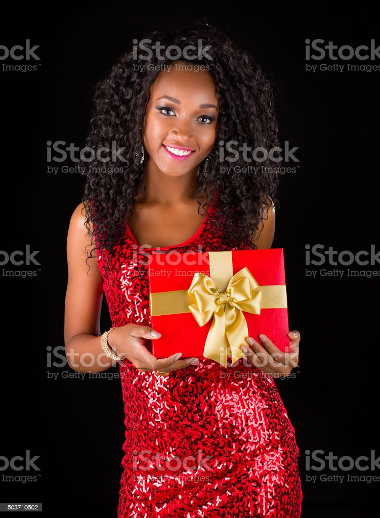 Young Africanamerican Merry Christmas Stock Photo More Pictures Of