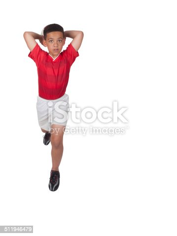 istock Young African-American Soccer Player 511946479