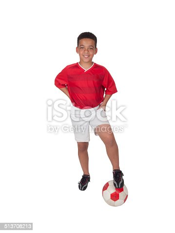 istock Young African-American Soccer Player 513708213