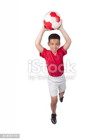 istock Young African-American Soccer Player 513757731