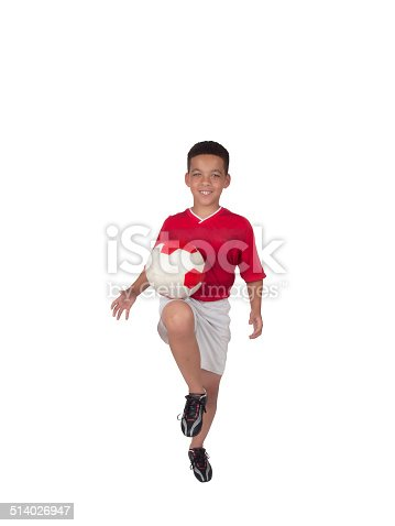 istock Young African-American Soccer Player 514026947