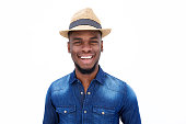 istock Young afro american man standing and laughing 513494190