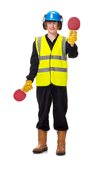 young airport signaller stock photo