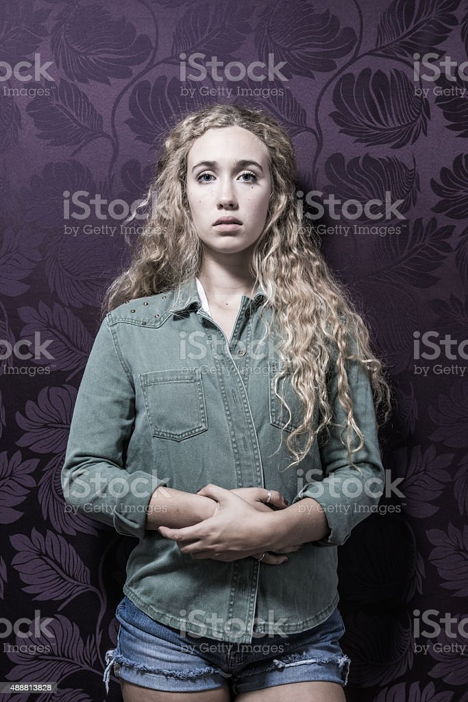 Young American Blonde Female Fashion stock photo