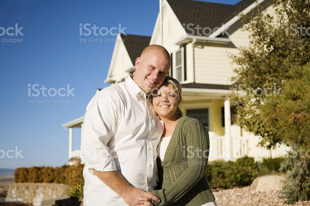 Young American Couple at Home royalty-free stock photo