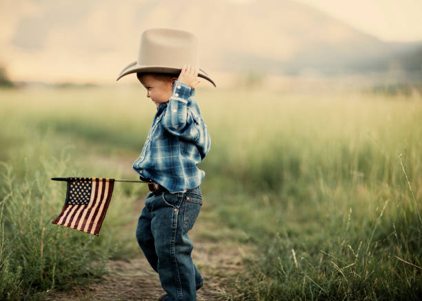 Young American Cowboy stock photo