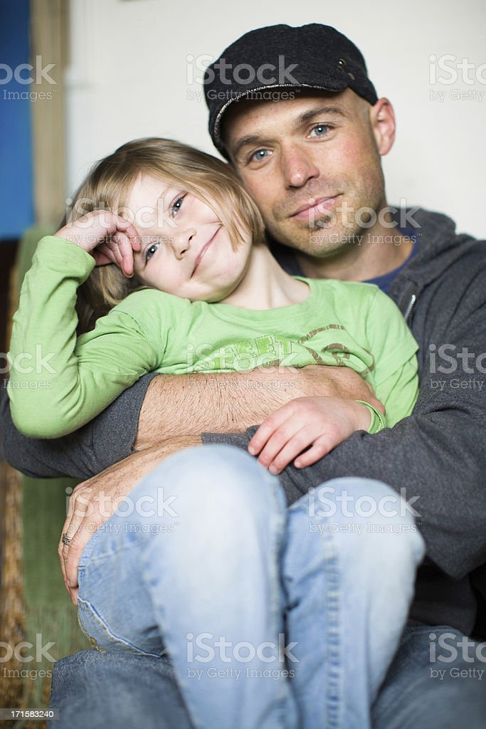 Young American Family. stock photo