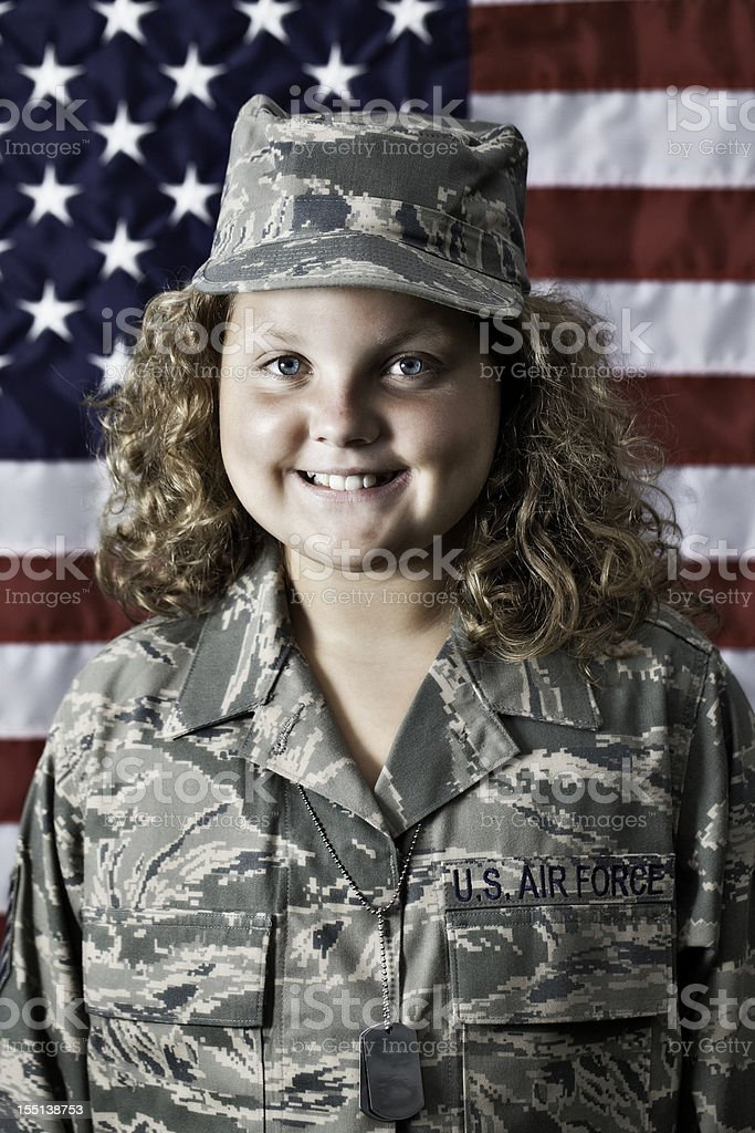 Young American Patriot stock photo