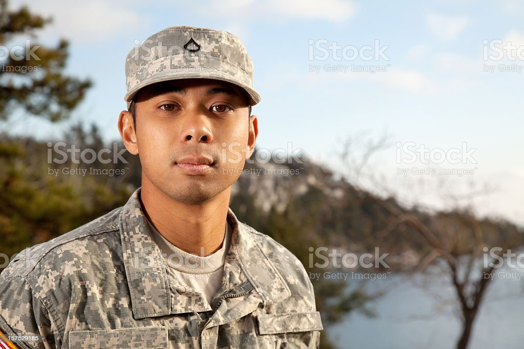 Young American Soldier Portrait royalty-free stock photo