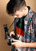 Analogue photography with young photographers, using old SLR 35mm cameras