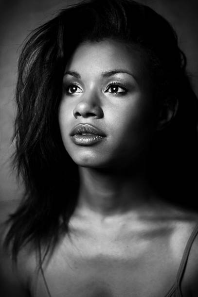 Young and beautiful african american woman. stock photo