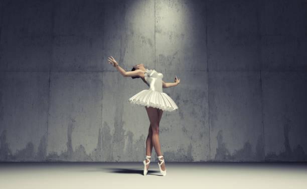 Young and beautiful ballerina stock photo