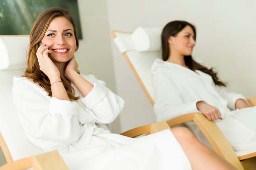 610769340 istock photo Young and beautiful women relaxing in a spa 490362598