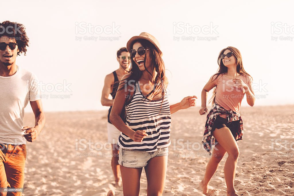 Young and carefree. stock photo