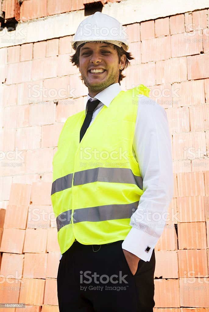 Young And Confident Architect royalty-free stock photo