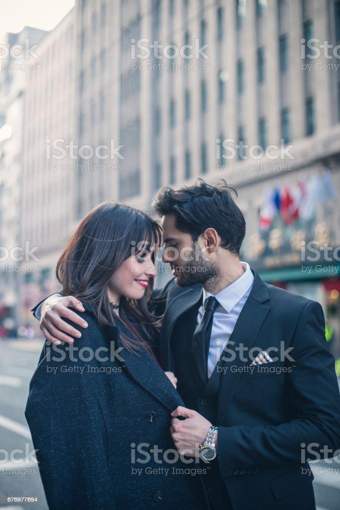 Jong en elegante paar royalty free stockfoto