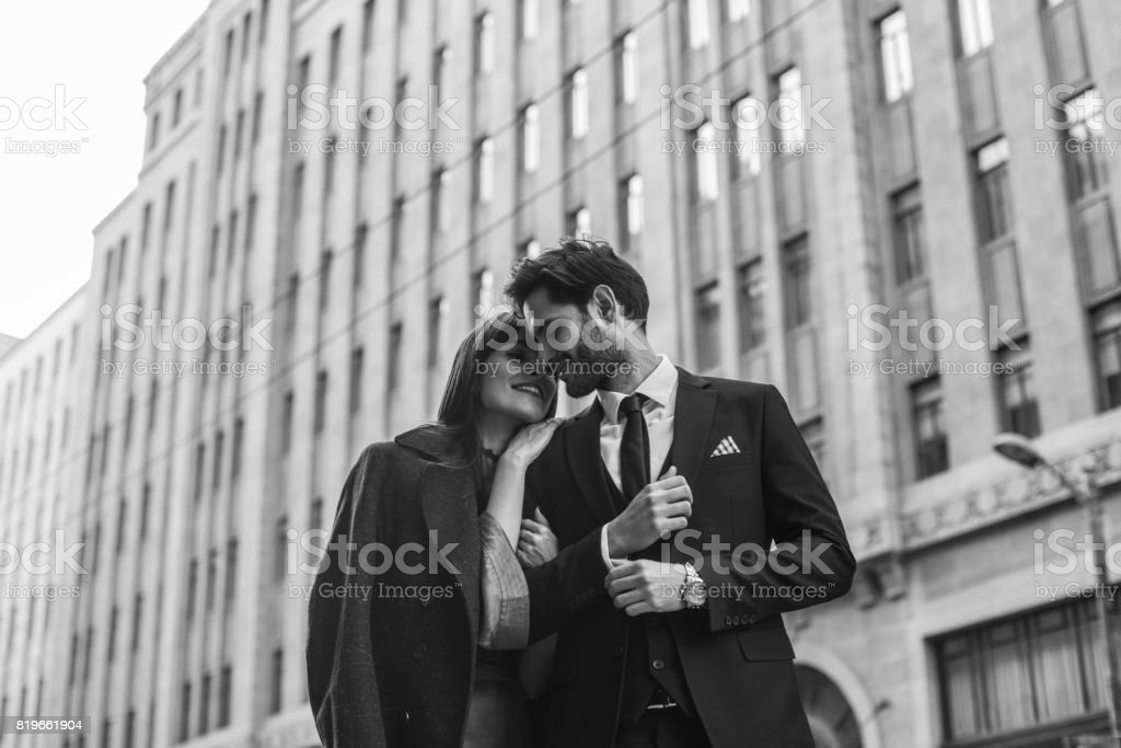 Young and elegant people stock photo