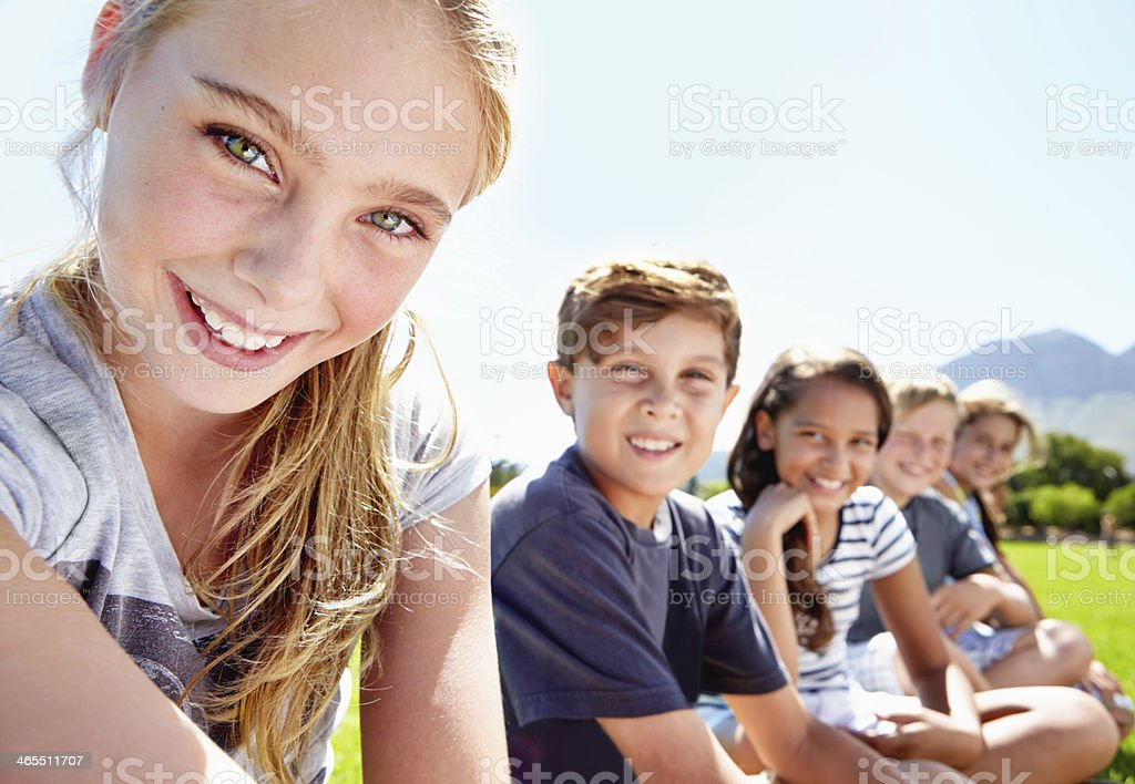 Young and full of positivity stock photo