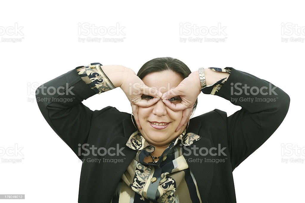 young and funny businesswoman, with big eyes royalty-free stock photo