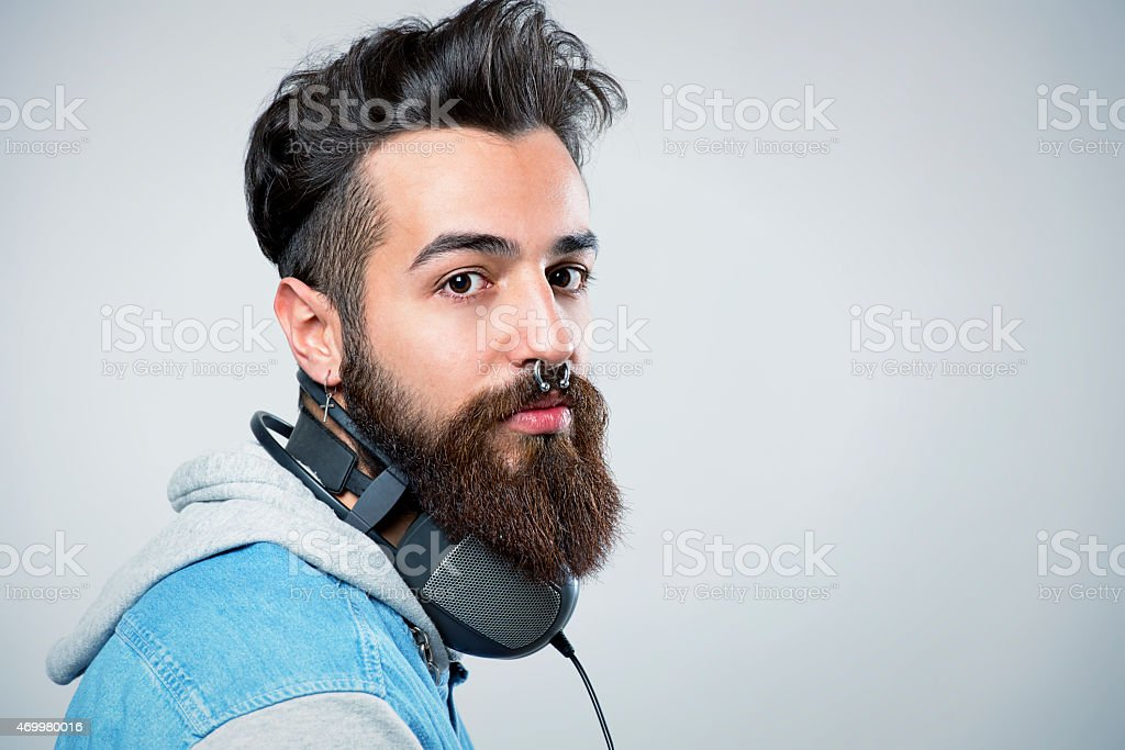 Young and good looking hipster royalty-free stock photo