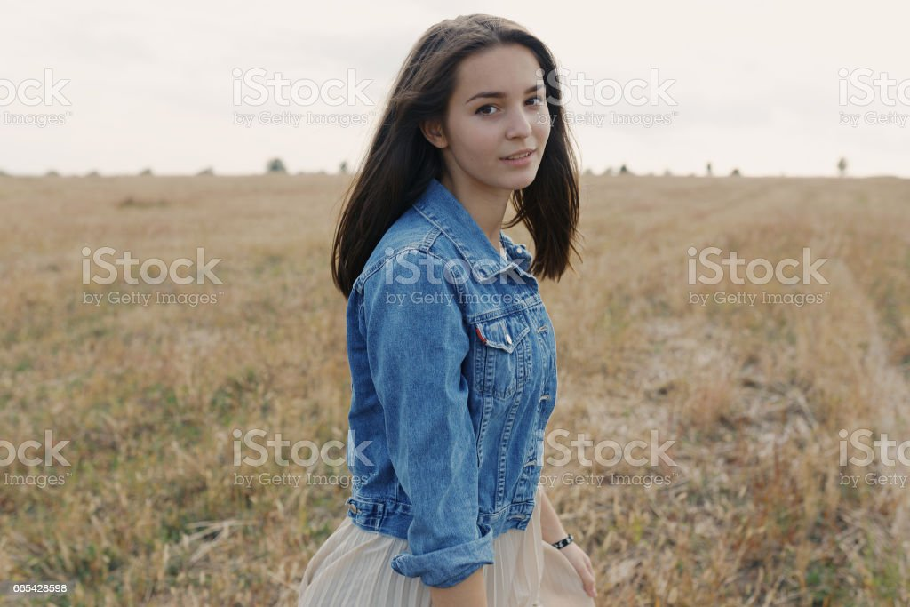 Young and handsome girl stock photo