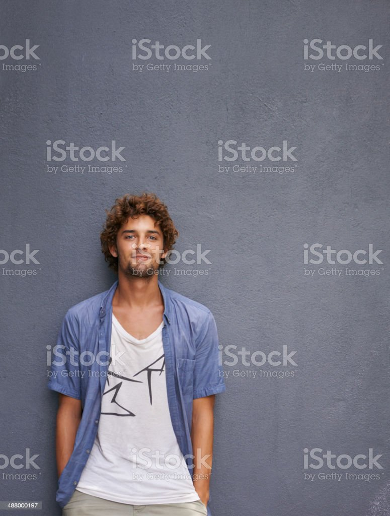 Young and handsome stock photo