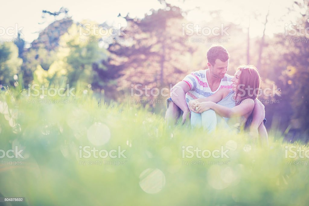 Young and in love stock photo