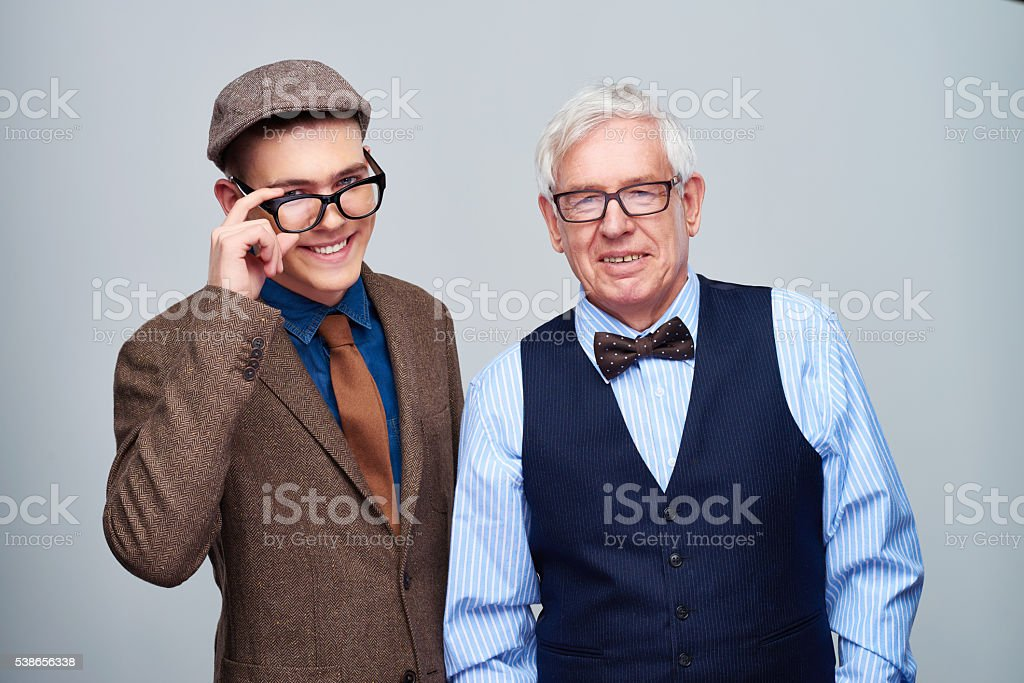 Young and old generation stock photo
