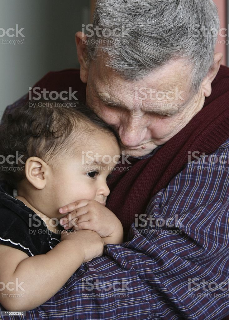 Young and Old Love stock photo
