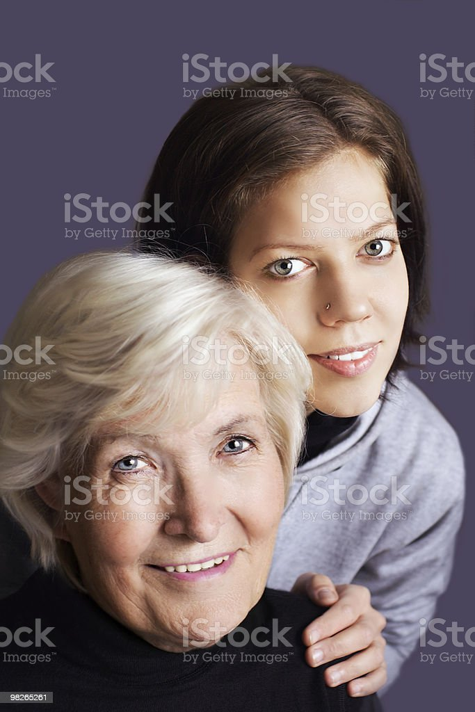 Young and old royalty-free stock photo
