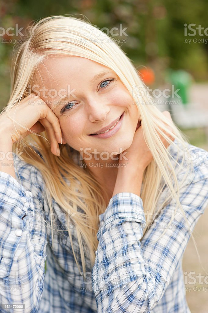 Young and smiling woman royalty-free stock photo
