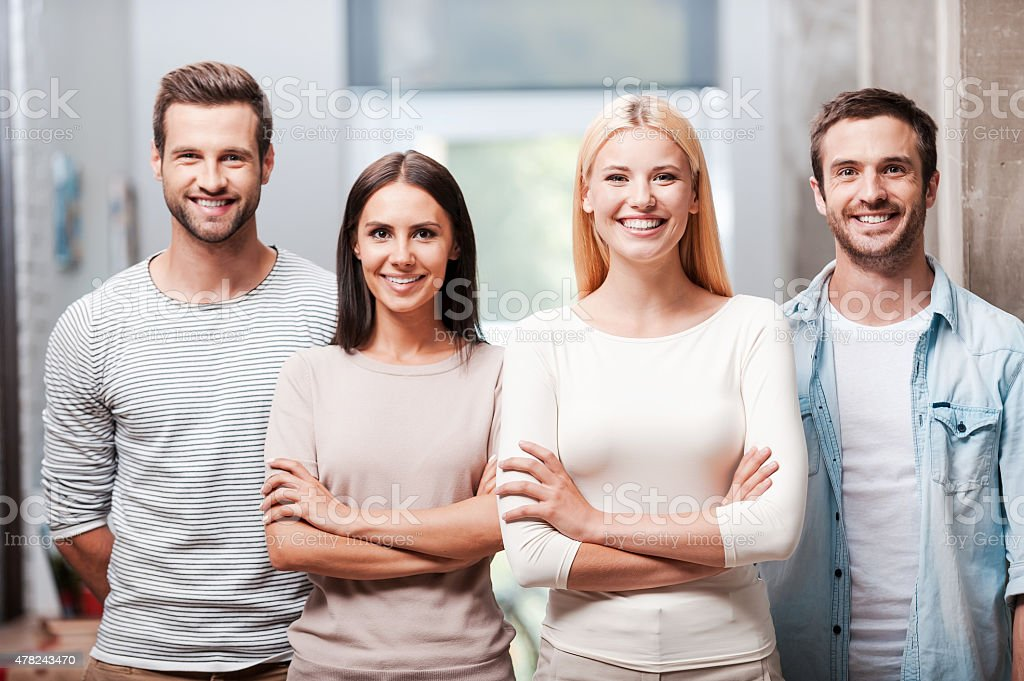 Young and successful team. stock photo