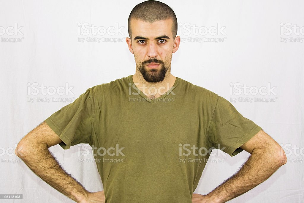 Young Angry Man Look at Camera royalty-free stock photo