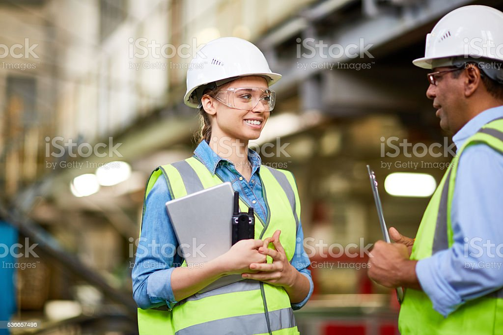 Young apprentice stock photo
