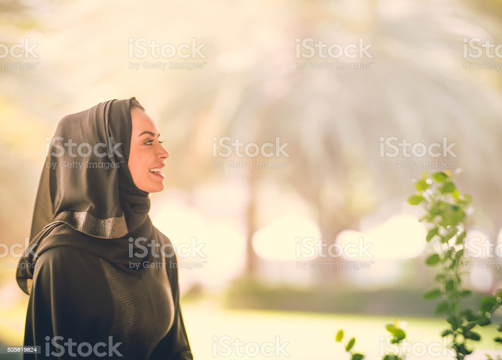 Young Arab Emarati Girl stock photo