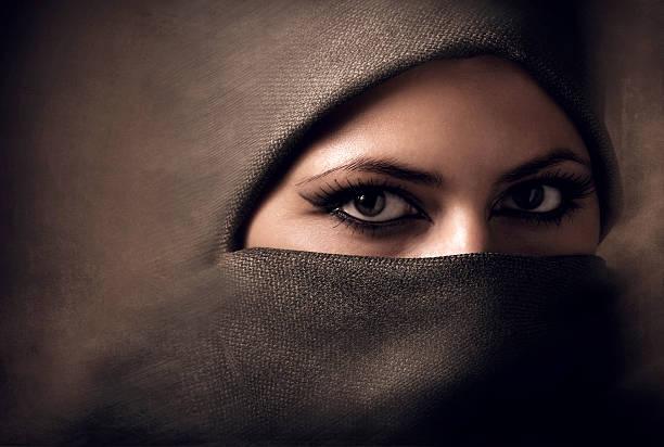 Young arabian woman in hijab. Toning stock photo